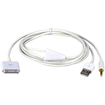QVS - Hi-fi Stereo Audio & USB Charger Cable for iPod® iPhone® & iPad/2/3