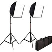 CowboyStudio - Photography Photo Studio Video Quick Softbox Lighting Light Kit, 600 Watt Output - Black - Black