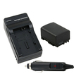 eForCity - BP - 808 Battery and Charger Bundle for Canon Camcorder FS10 FS100