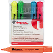 Universal - UNV08860 Desk Highlighter, Chisel Tip, Fluorescent Colors, 5/Set