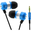 GOgroove - audiOHM Earbuds w/ Noise Isolating Ergonomic Ear Gels & Deep Bass for Portable Electronics - Blue