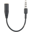 eForCity - 3.5mm Audio Adapter compatible with Apple iPad/iPhone/iPhone 3GS, - Black - Black