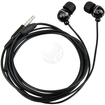eForCity - Earphone Headphone with Mic for iPod Touch / iPhone - Black - Black