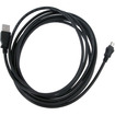 eForCity - 10ft Compatible With Sony PS3 SixAxis Controller USB Charger Cable - Black - Black