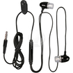 eForCity - 3.5mm In Ear Stereo Headset w/On Off & Microphone for iPhone 4S - Black - Black