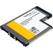 Startech - 2 Port Flush Mount ExpressCard 54mm SuperSpeed USB 3.0 Card Adapter