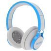 BOOM - Rogue Over-Ear DJ Headphones with In-Line Controls - Blue, Gray - Blue, Gray