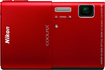 Nikon - Coolpix S100 16.0-Megapixel Digital Camera - Red
