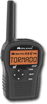 Midland - Hh54Vp2 Same All-Hazard Handheld Weather Alert Radio - Black - Black