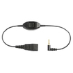 Jabra / GN Netcom - Jabra Adapter QD to 3.5mm iPhone GN Audio Cable Adapter - Black