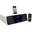 Pyle - Clock Radio - 200 W RMS - Apple Dock Interface - White