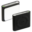 eForCity - Silicone Skin Case compatible with Apple® iPod shuffle 4th Gen, - Black - Black