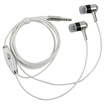 eForCity - Earphones Headphones with Mic for iPod Touch 4th Gen and iPhone 4S - Silver - Silver