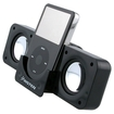 eForCity - Dock Station Speaker Compatible With iPhone 4 iPod touch 4G /iPhone 4S-AT & T,Sprint - Black - Black
