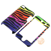 eForCity - Zebra Pattern Plastic Case and Screen Protector Bundle for iPod touch 4th Generation