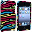 eForCity - Snap-On Case for iPod Touch 4th Generation - Black/Colorful Zebra