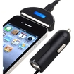 eForCity - 3.5mm FM Transmitter with Car Charger Compatible with Blackberry Z10 - Black - Black