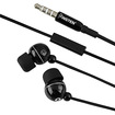 Insten - 3.5mm In Ear Stereo Headset with On Off switch Compatible with HTC One M7 - Black - Black