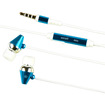 eForCity - 3.5mm In Ear Stereo Headset with w/ On Off Switch Compatible with HTC One M7 - Blue - Blue