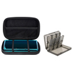 eForCity - Lite Eva Case and 24 in 1 Game Card Case Bundle For Nintendo 3DS