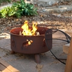 Patina Products - Moose and Tree 31-Inch Fire Pit - Natural Rust