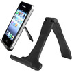 eForCity - Cell Phone Mini Stand Holder Compatible with HTC One M7 - Black - Black