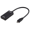 eForCity - Micro USB to HDMI MHL Adapter Compatible with HTC One M7 - Black - Black
