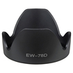 eForCity - Replacement Lens Hood for Canon EW-78D, 102mm, Crown Hood
