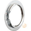 eForCity - Nikon Lens to Canon EOS EF Camera Adapter Ring, - Silver - Silver