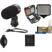 Nikon - ME-1 Stereo Microphone for D4 D600 D800 D7100 V1 V2 + Wind Screen Case + LED Light Kit + Clean Kit