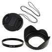 eForCity - 58mm UV Filter and Hood and Cap Bundle for NIKON CANON DSLR SLR LENS