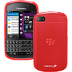Fosmon - TPU Silicone Case for BlackBerry Q10 - Red - Red