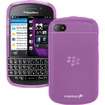 Fosmon - TPU Silicone Case for BlackBerry Q10 - Purple - Purple