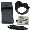 eForCity - Battery and Charger and HOOD REBEL XS T1i Bundle for CANON LP-E5