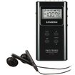Sangean - DT-180 Pocket Digital Radio Tuner - Black