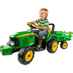 Peg Perego - Peg Perego John Deere Farm Power with Trailer Battery Powered Riding Toy