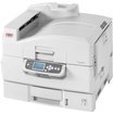 Oki - C9000 LED Printer - Color - 1200 x 600 dpi Print - Plain Paper Print - Desktop - White
