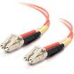 C2G - 6M LC to LC 50/125 Om2 Duplex Multimode PVC Fiber Optic Cable - Orange