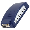 AGPtek - MAC PC Laptop PC VGA to TV HDTV AV Composite RCA S-Video Converter Box - Blue - Blue