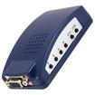 AGPtek - MAC PC Laptop PC VGA to TV HDTV AV Composite RCA S-Video Converter Box - Blue