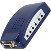 AGPtek - VGA Input To VGA Outport RCA S-Video PC To TV Converter Switch Box Adapter