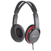Compucessory - Stereo Headset w/ Volume Control - Black, Red - Black, Red