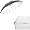 CowboyStudio - 43 Inch Reflective Umbrella for Photography and Video Lighting - Black, White - Black, White