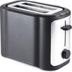Brentwood - TS-290B 2-Slice Toaster - Black, Stainless Steel - Black, Stainless Steel
