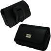 Empire - Executive Black Leatherette Case for Garmin-Asus Nuvifone A50 - Black