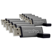 Centon - 2GB DataStick Pro USB 2.0 Flash Drive 10 Pack - Gray