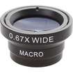 AGPtek - Black Wide Angle Macro Lens Kit With Magnetic Ring Designed for iPhone 4 4S
