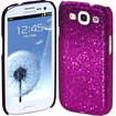 Cimo - Bling Sparkle Hard Cover Back Case for Samsung Galaxy S III - Purple - Purple