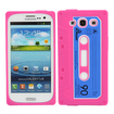 Fosmon - Retro Soft Silicone Cassette Case for Samsung Galaxy S III S3 - Blue, Pink - Blue, Pink