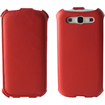 Fosmon - Leather Phone Case for Samsung Galaxy SIII S3 - Red